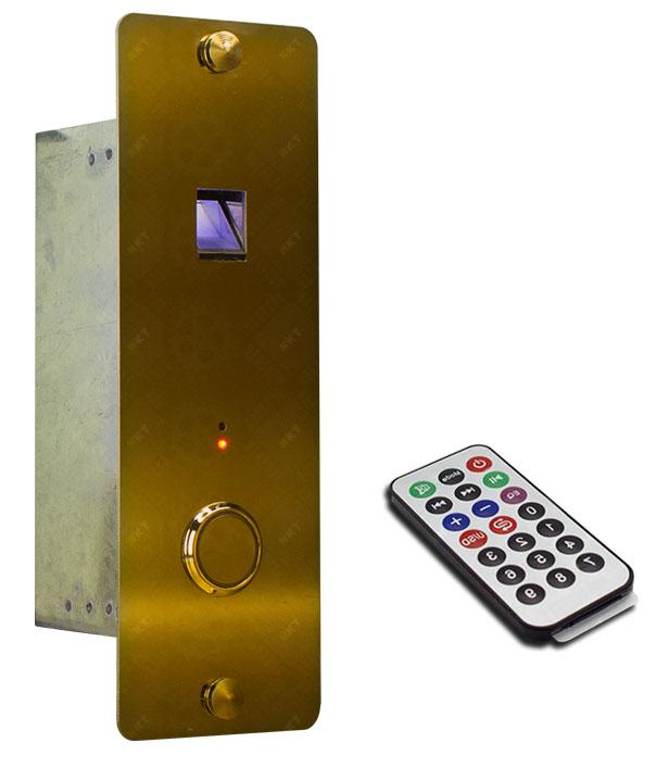 قیمت پنل شستی طبقه آسانسور مجهز به سیستم کنترل تردد اثر انگشتی (Elevator Fingerprint Access Control) - شرکت نوین کیا تک
